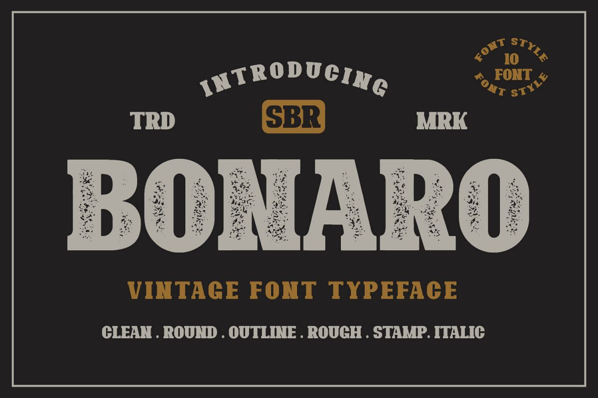 10 Font - Bonaro Font Family example image 1