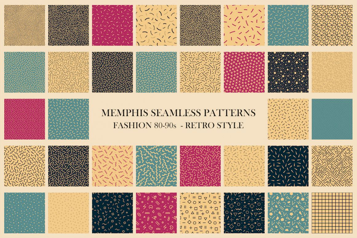 Trendy seamless abstract patterns example image 1