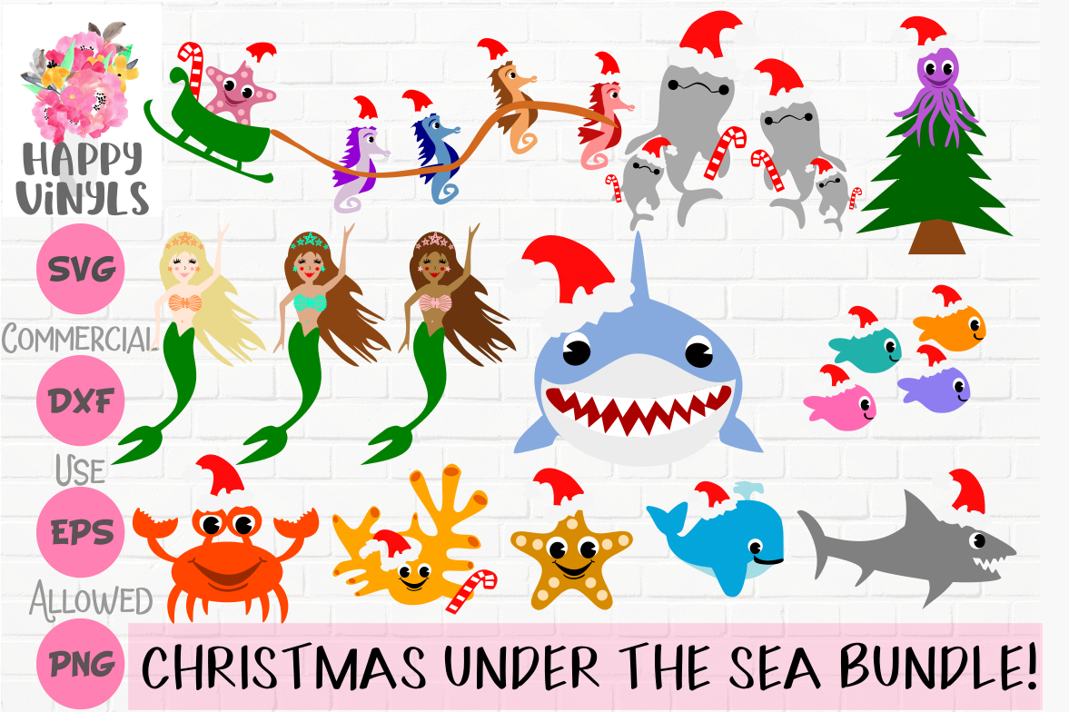 Christmas Under The Sea Bundle! Mermaids, Sharks, Much More! example image 1