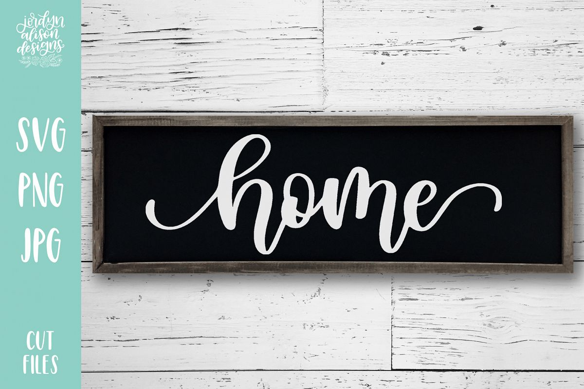 Home, Hand Lettered SVG Cut File for the House example image 1