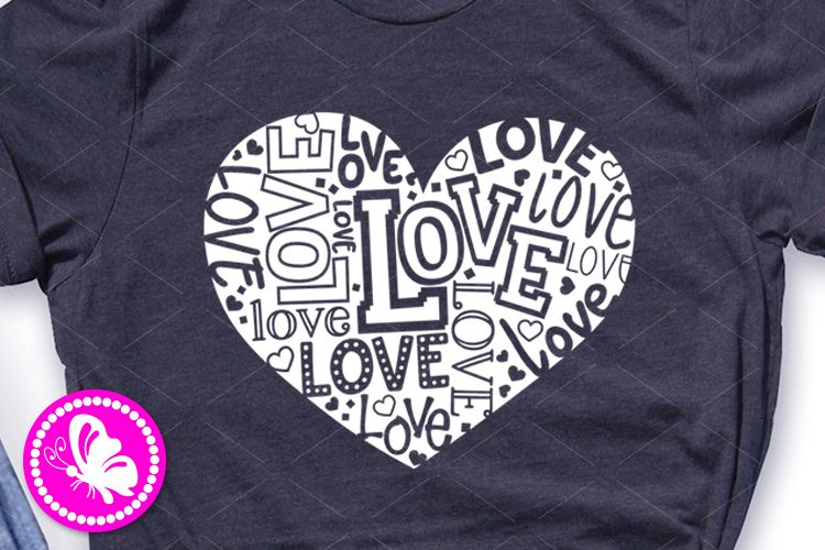 Love svg design Heart sign Valentines decor Girls t-shirt example image 1