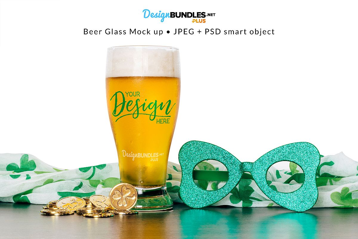 Beer Glass Mock up example image 1