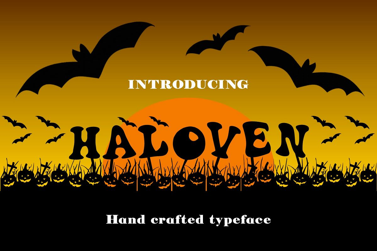 Haloven Font example image 1