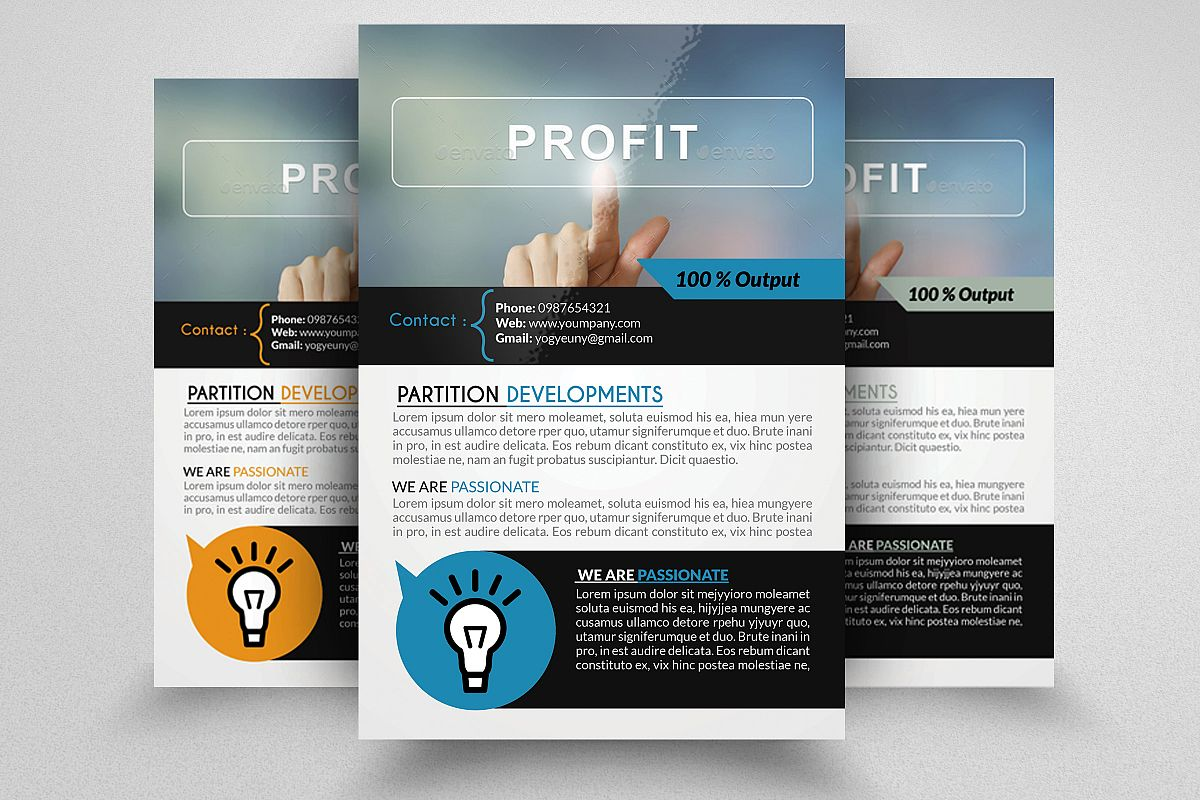 Business Profit Idea Flyers example image 1