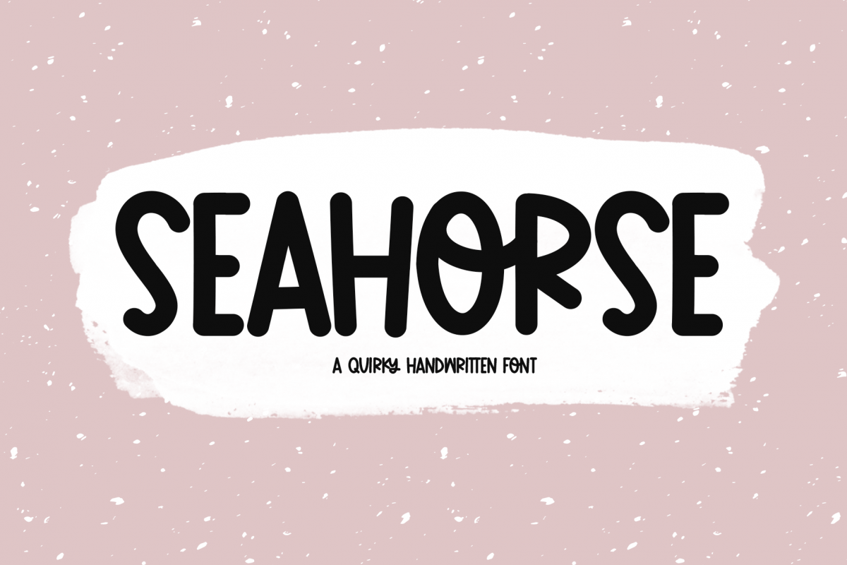 Seahorse - A Fun & Quirky Handwritten Font example image 1