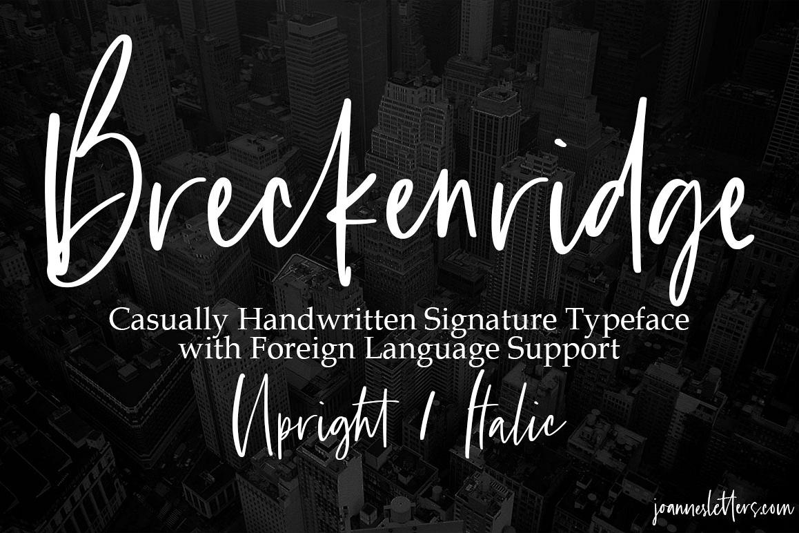 Breckenridge Signature Font Duo Casual Signature Typeface example image 1