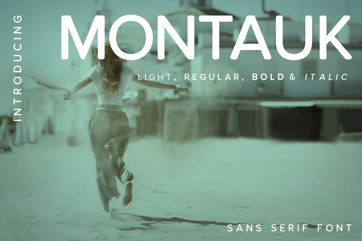 Montauk | Sans Serif Font Family example image 1