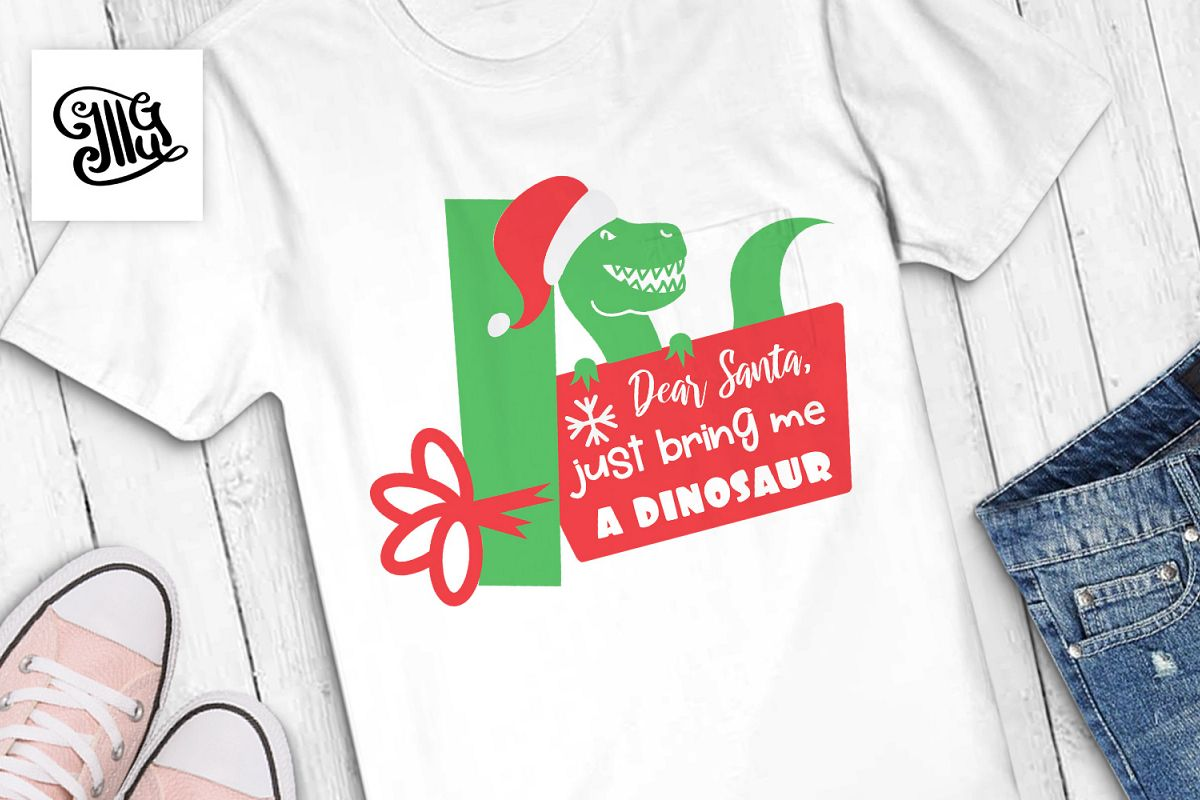 Dear Santa, just bring me a dinosaur - Christmas kids example image 1
