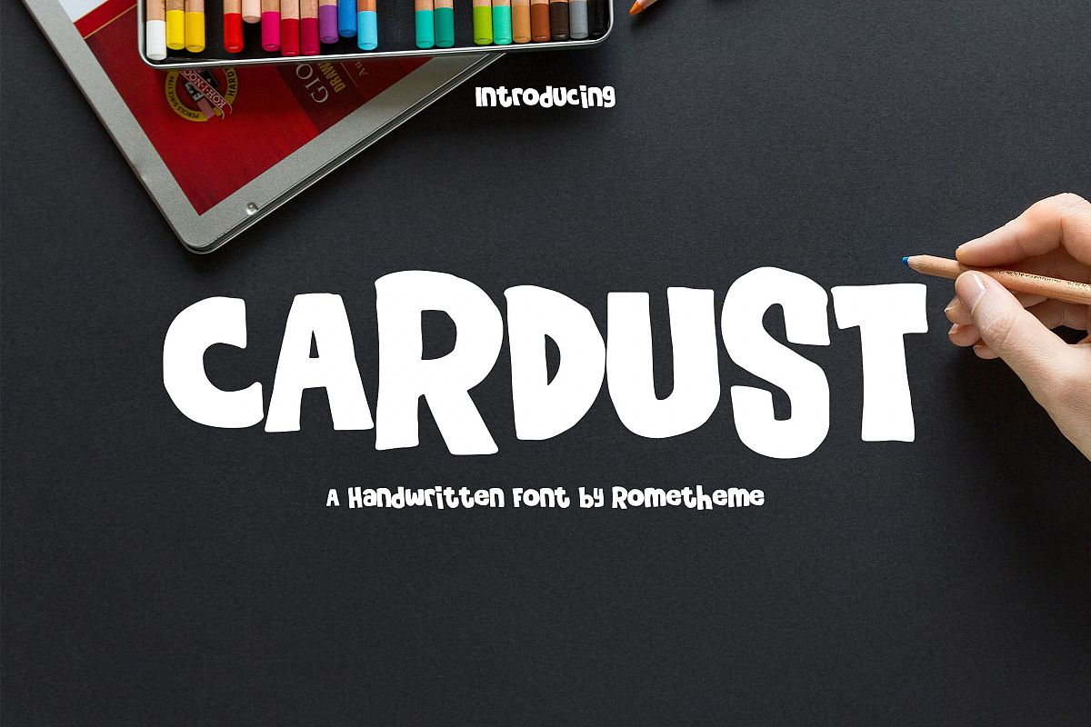 Cardust - Fun Font example image 1