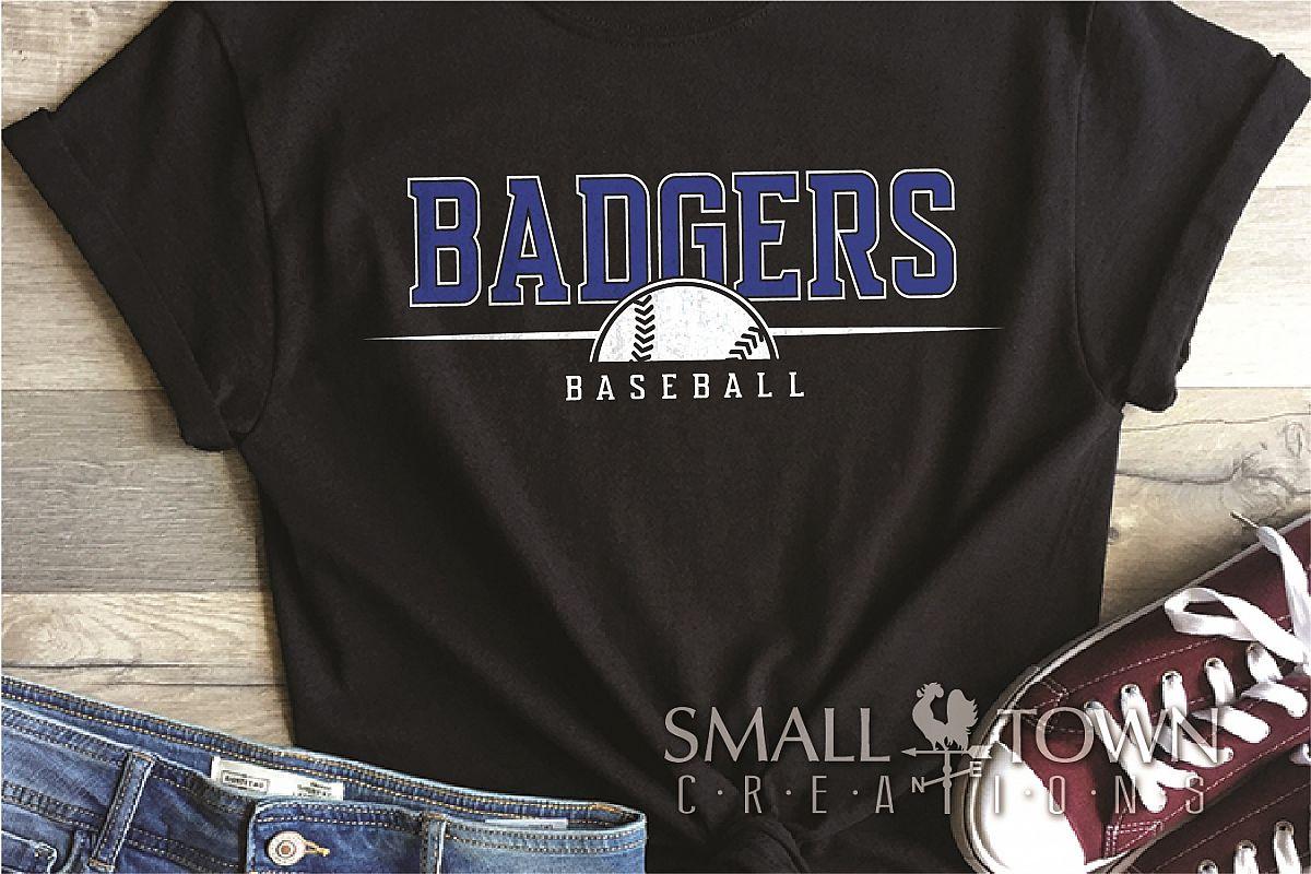 Badger, Badger Baseball Team, Sport, PRINT, CUT & DESIGN example image 1