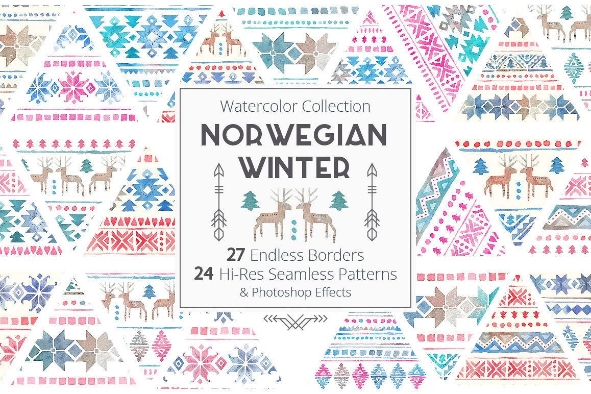 Norwegian Winter: Seamless Patterns example image 1