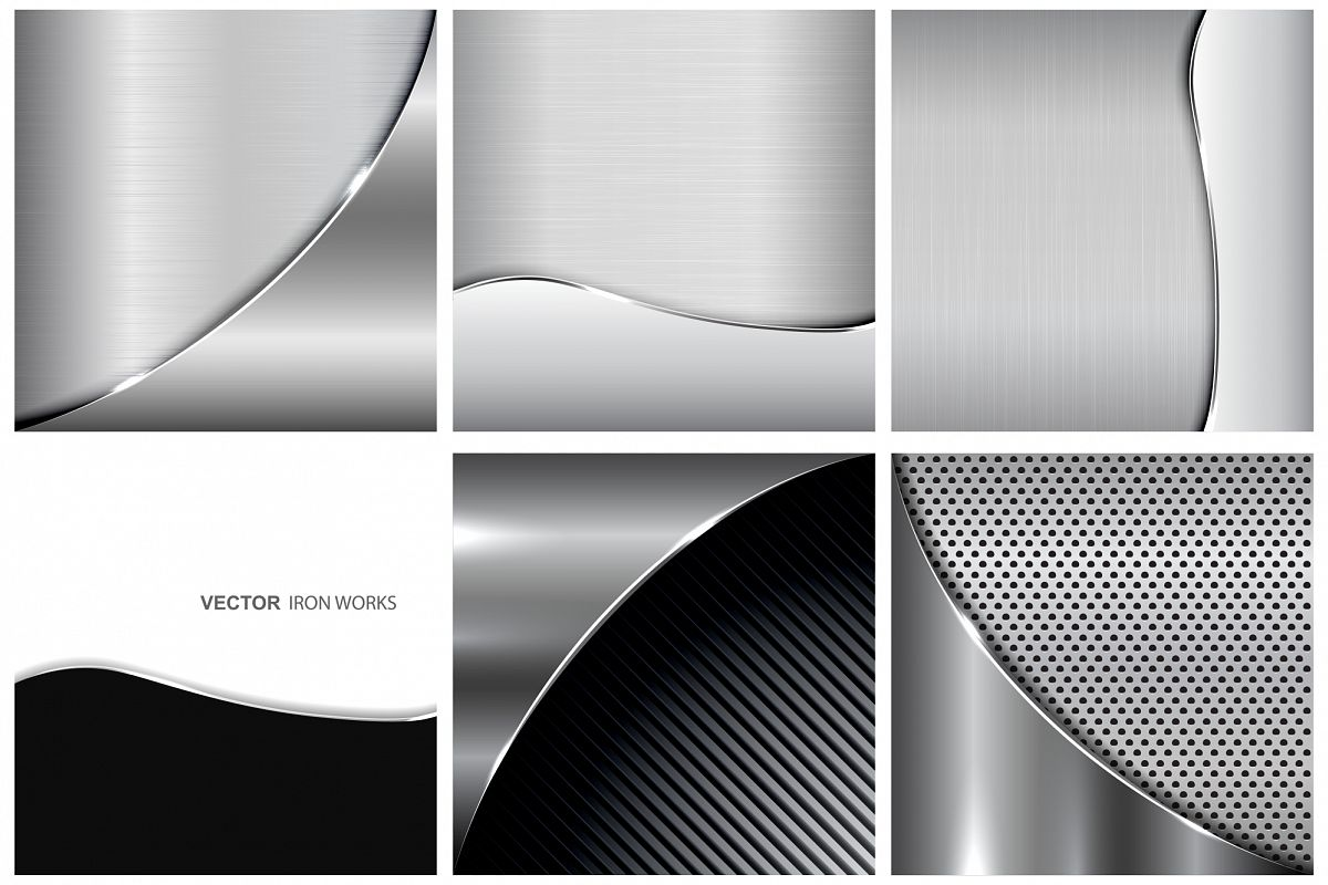 Collection of metallic backgrounds. example image 1