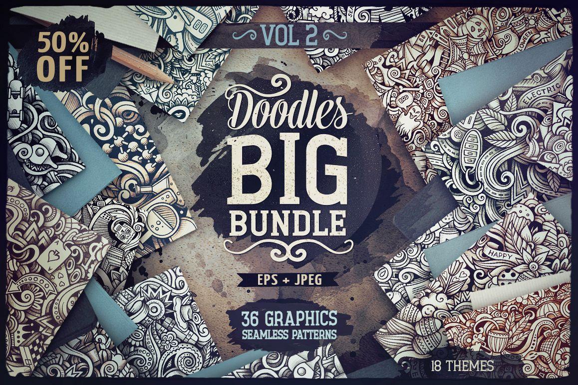 -50 SALE/ Big Doodle Patterns Bundle #2 example image 1