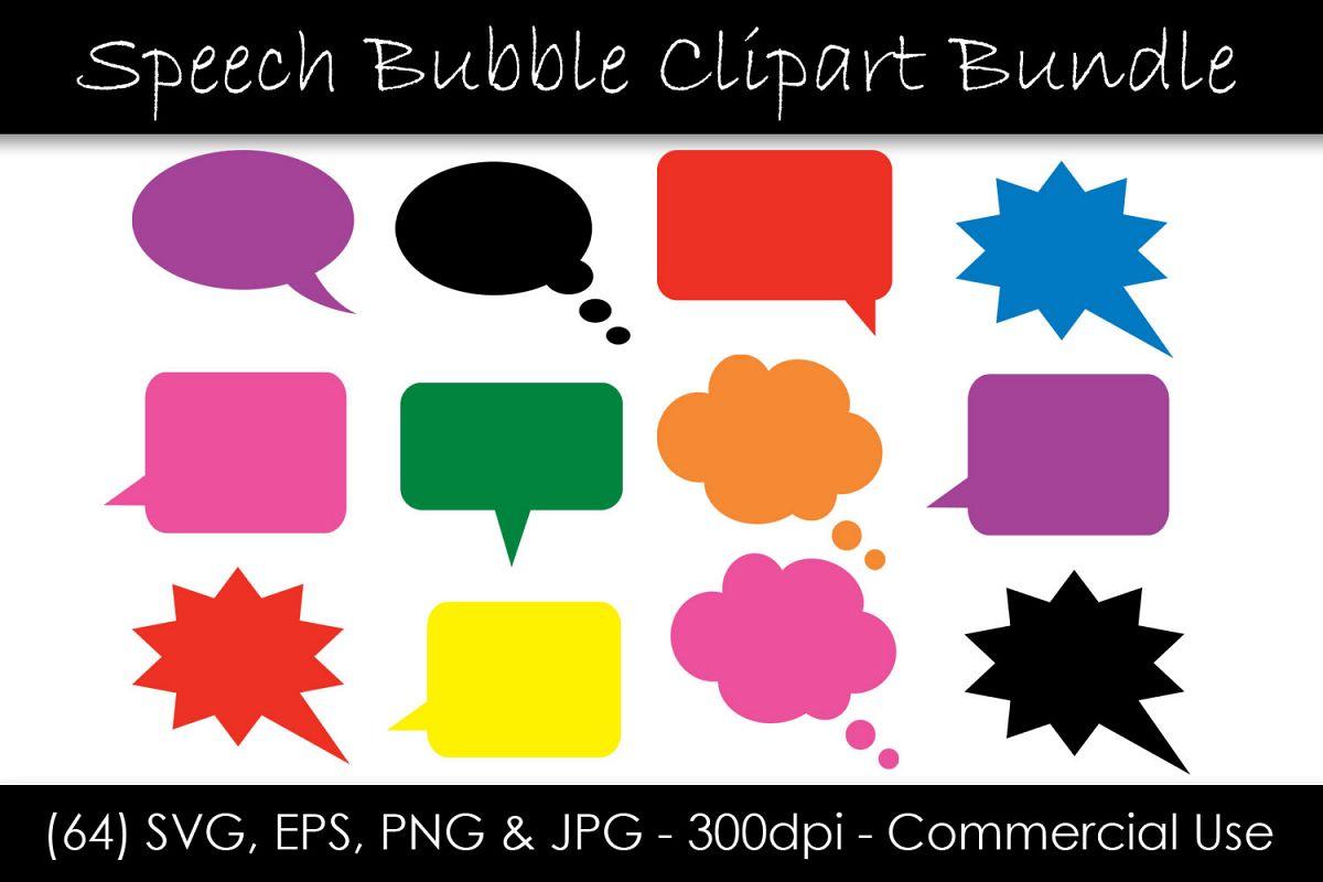 Solid Speech Bubble SVG Bundle - Comic Speech Bubble example image 1