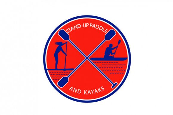Stand-up Paddle and Kayak Circle Retro example image 1
