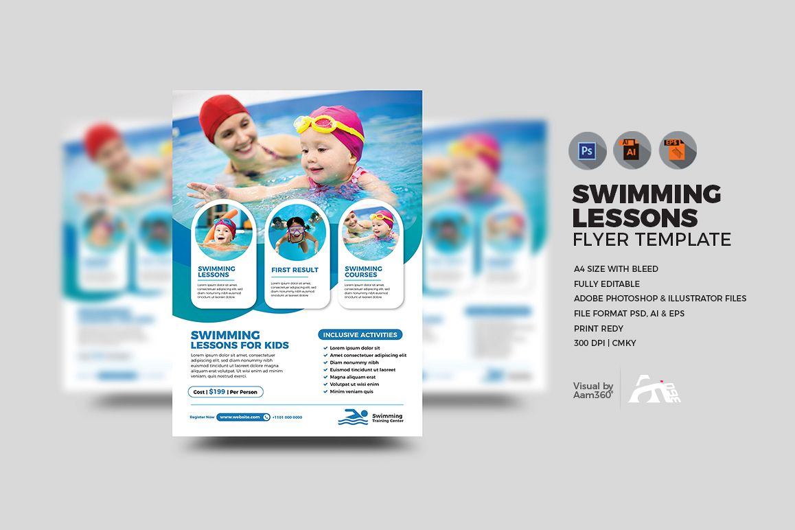 Swimming Lessons Flyer example image 1