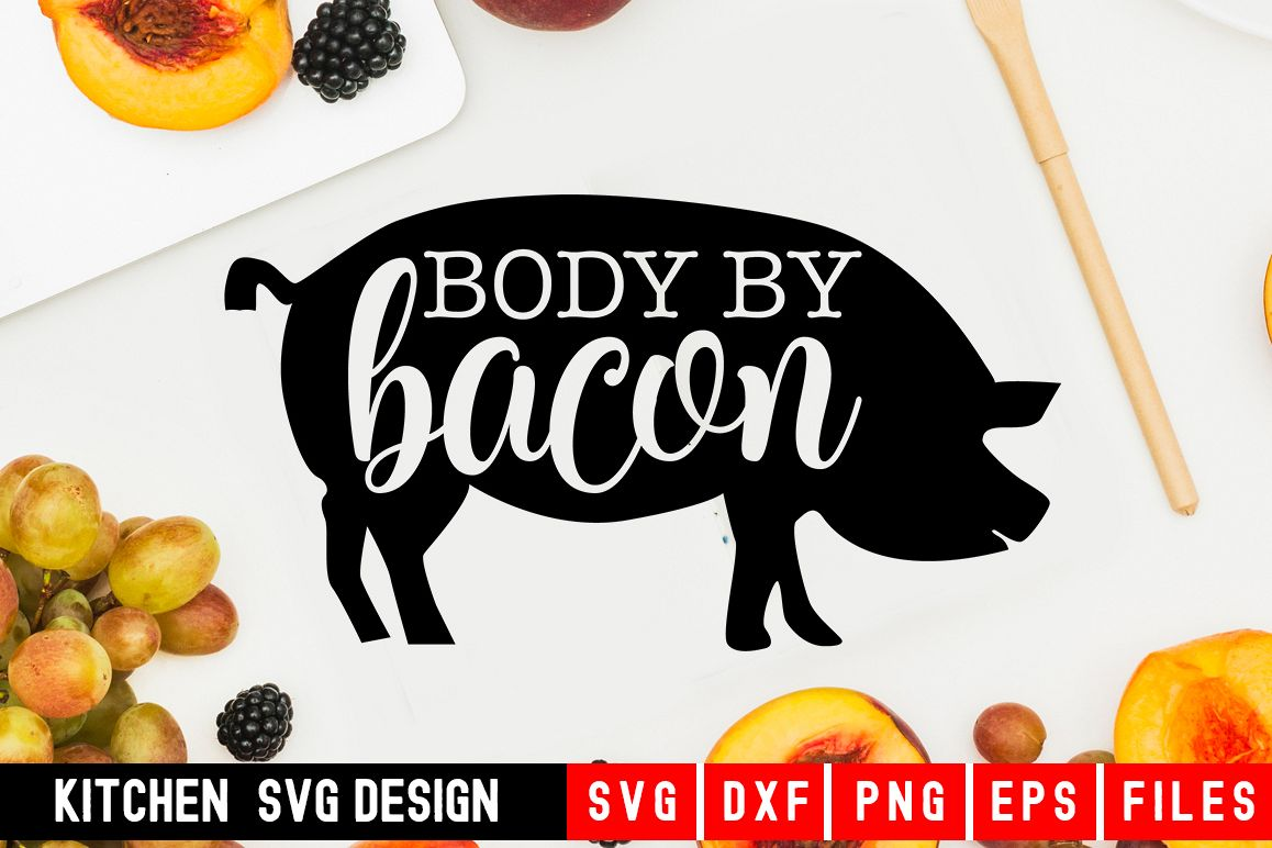 Body Bacon|Bacon svg|kitchen towel svg example image 1