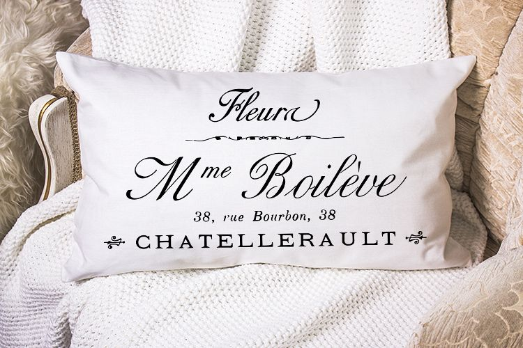 Antique French Paris printable furniture pillow sublimation example image 1