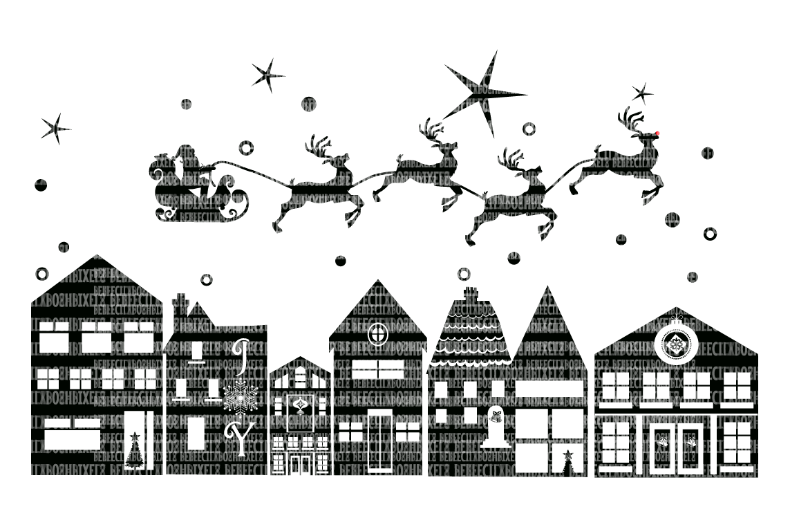 Christmas, SVG File, Santa, Reindeer example image 1