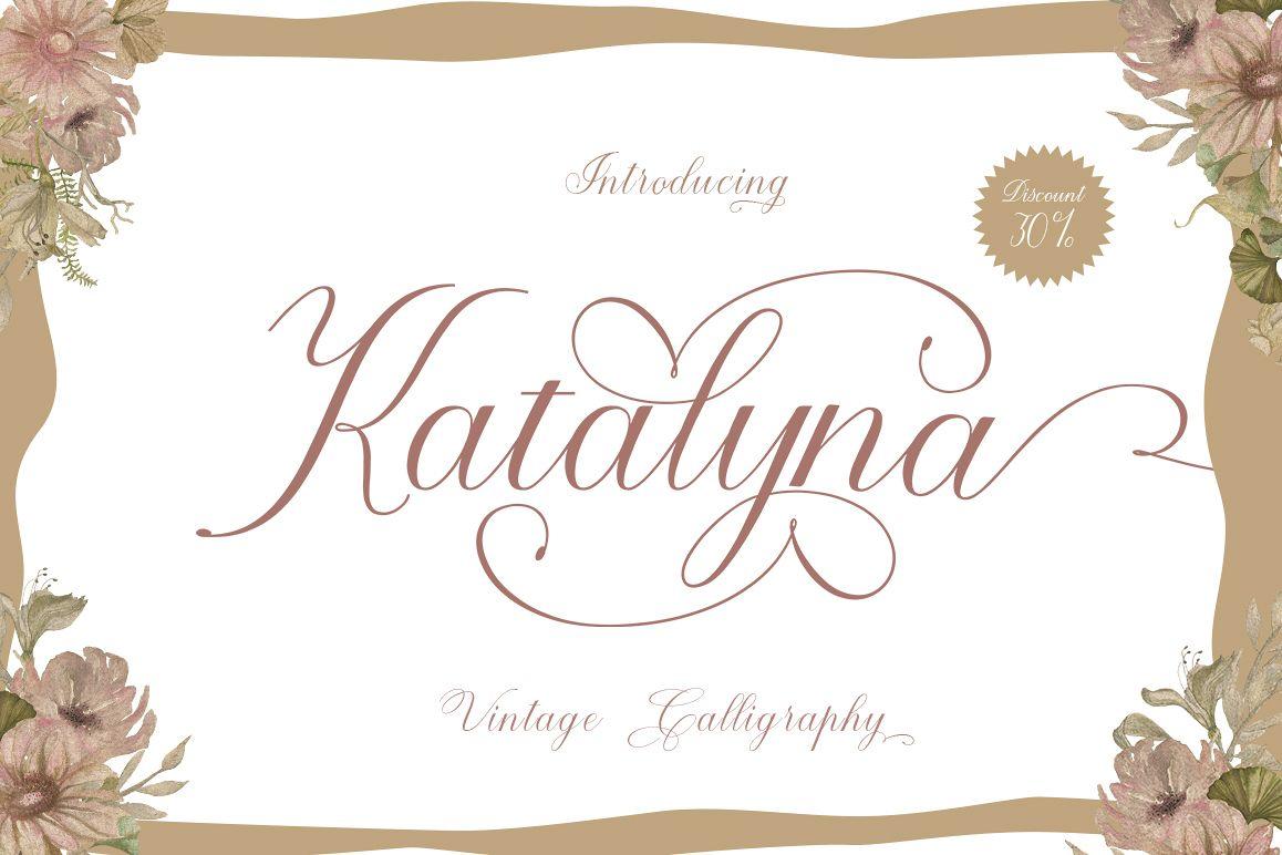 Katalyna Script example image 1