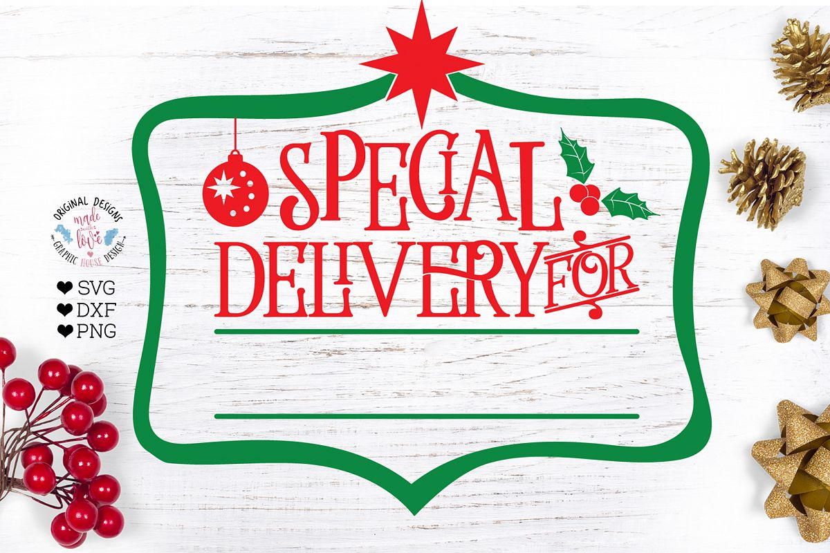 Special Delivery For - Christmas Cut File example image 1