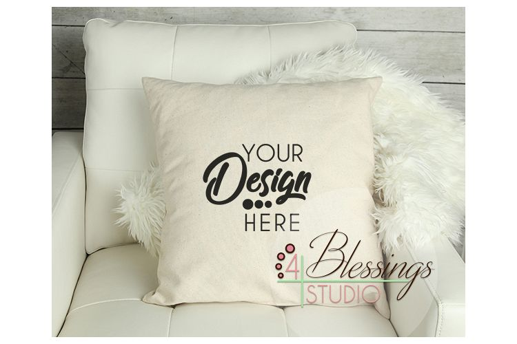 Pillow Mockup Canvas Pillow Mockup Pillow Mock Up Chair example image 1