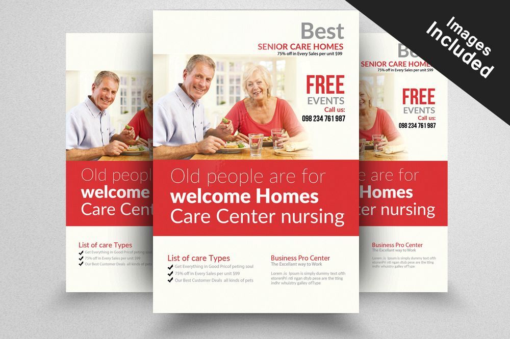 Senior Care Homes Flyers Template