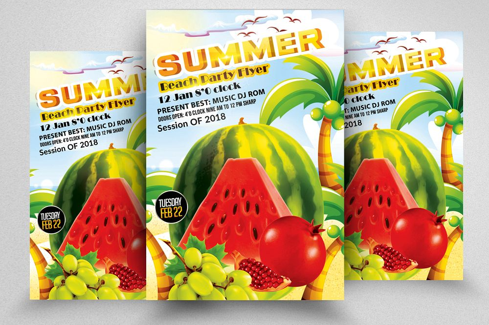 Summer Picnic Fun Party Flyer example image 1