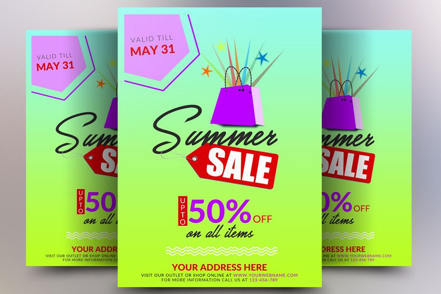 Summers Sale Flyer example image 1