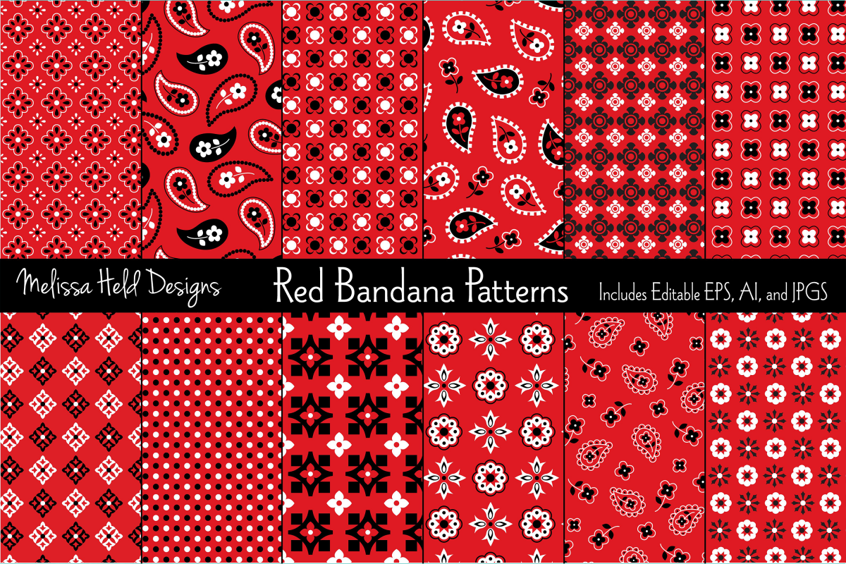 Red Bandana Patterns example image 1
