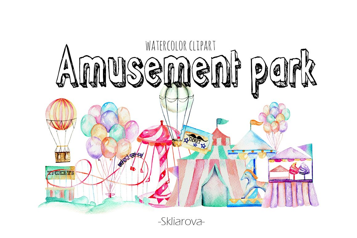 Amusement park clip art example image 1