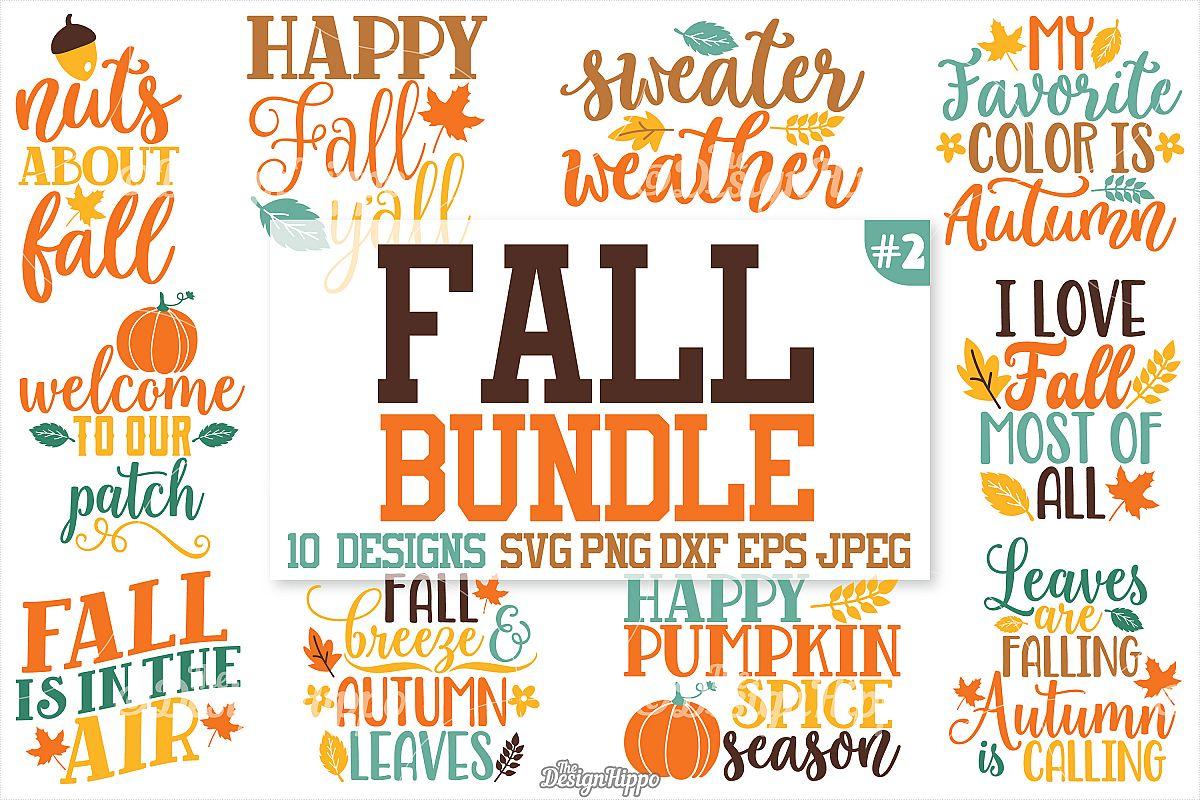 Fall sayings SVG Bundle, Autumn SVG Bundle, PNG, DXF, Cricut example image 1