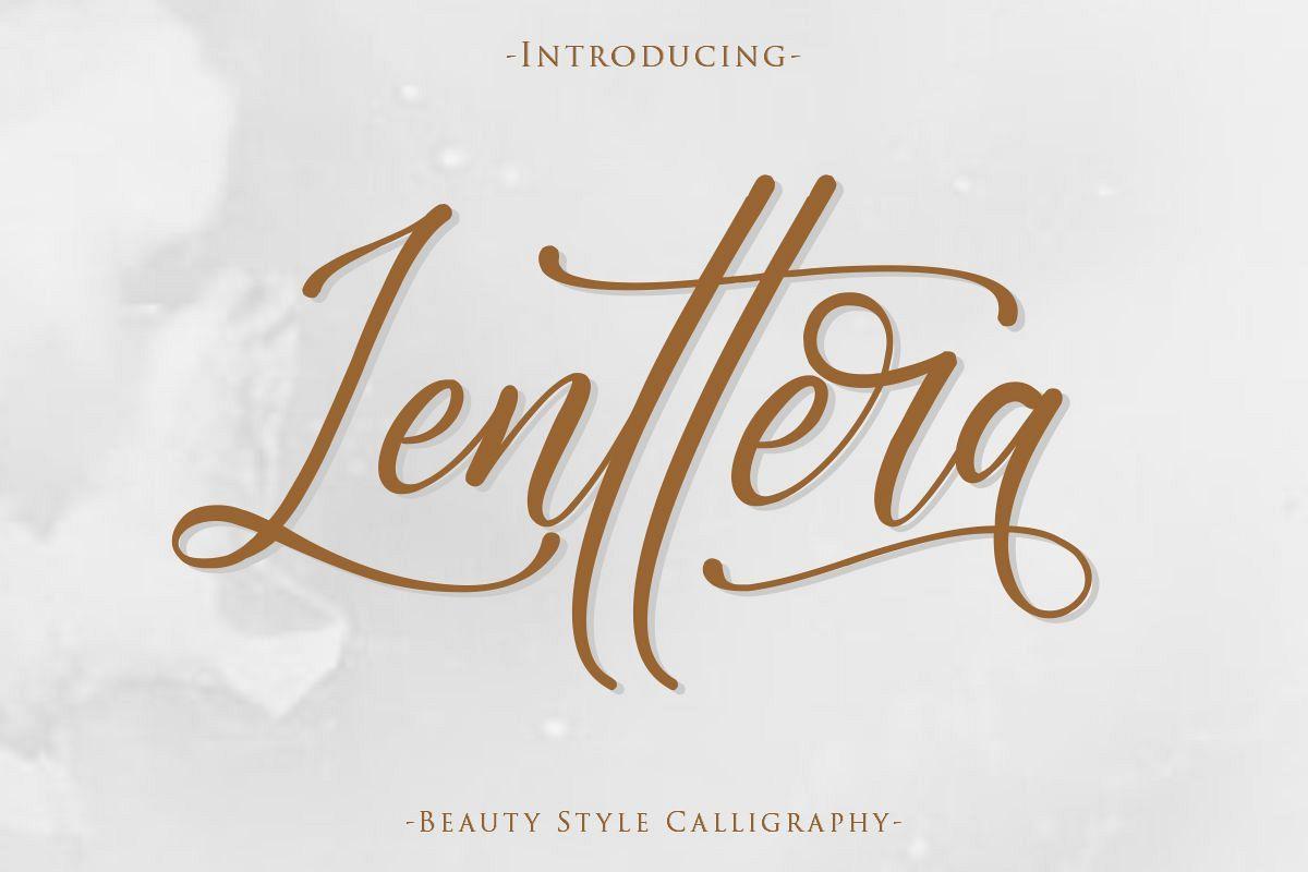 Lenttera | Beauty Style Calligraphy example image 1
