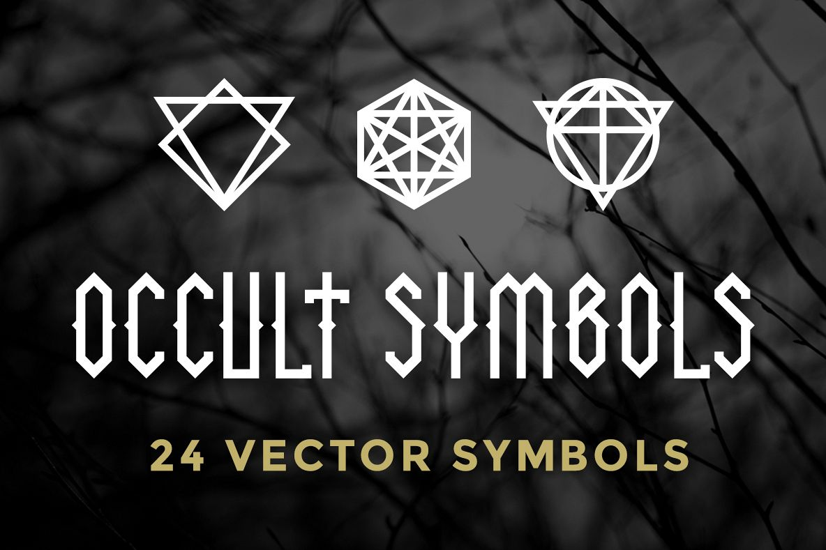 24 Occult Symbols Plus 4 Free Photos