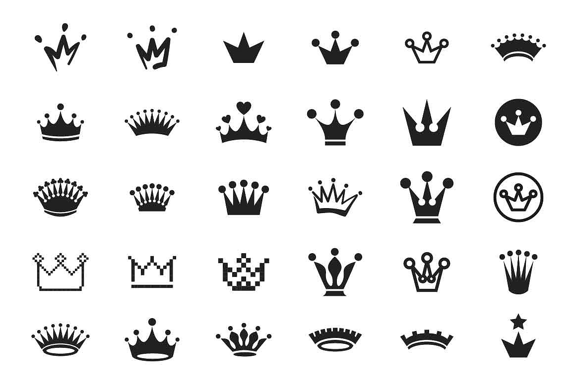 Crown icon set example image 1