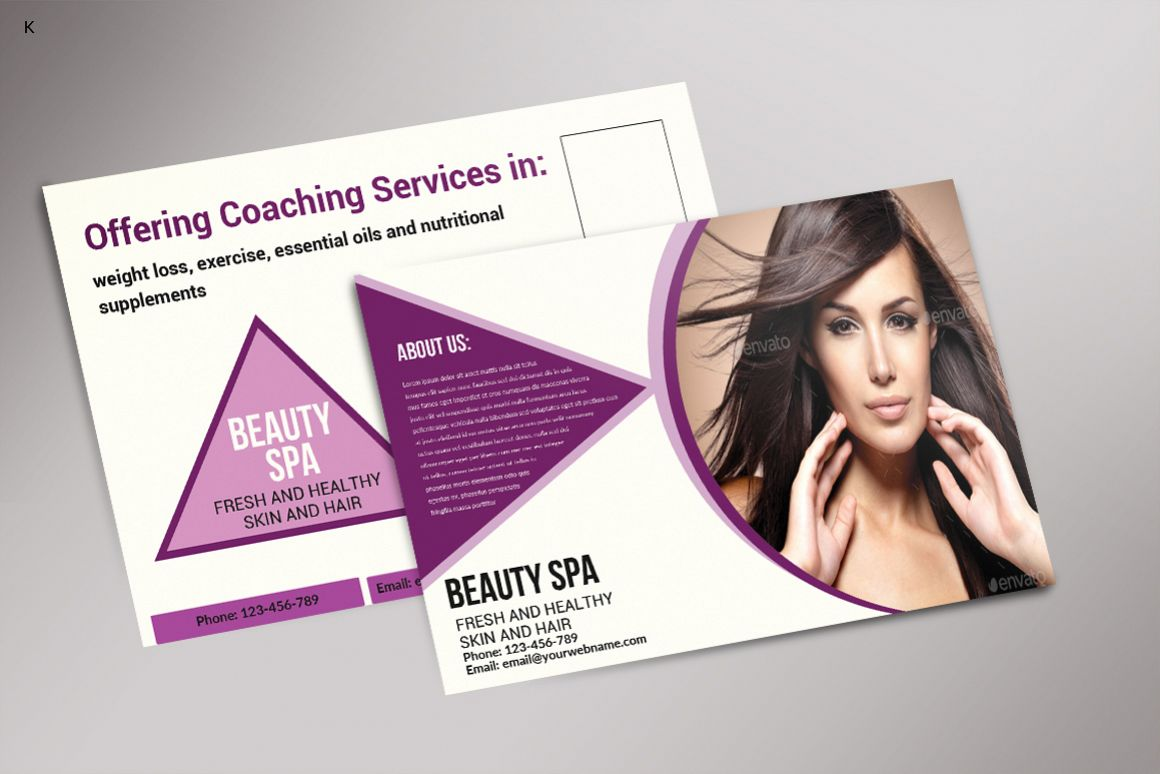 Beauty Spa Post Card example image 1
