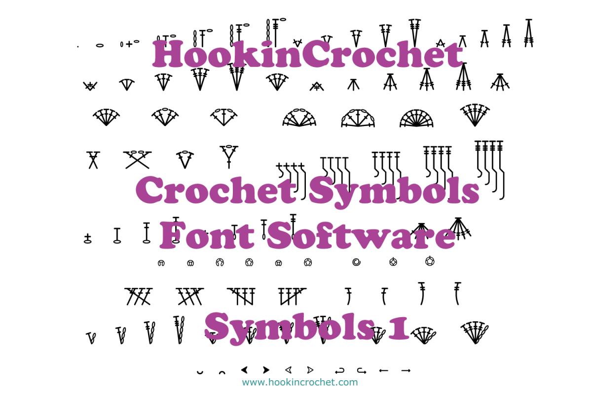 HookinCrochet Symbols 1 Font Software example image 1
