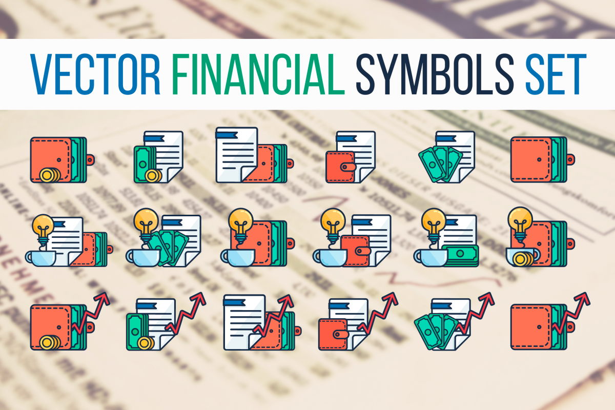 Financial Symbols Set example image 1