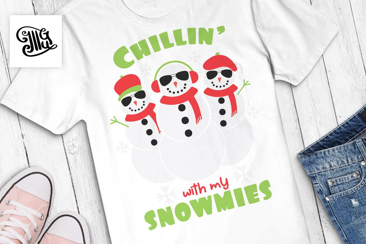 Chilling with my snowmies - Christmas kids example image 1