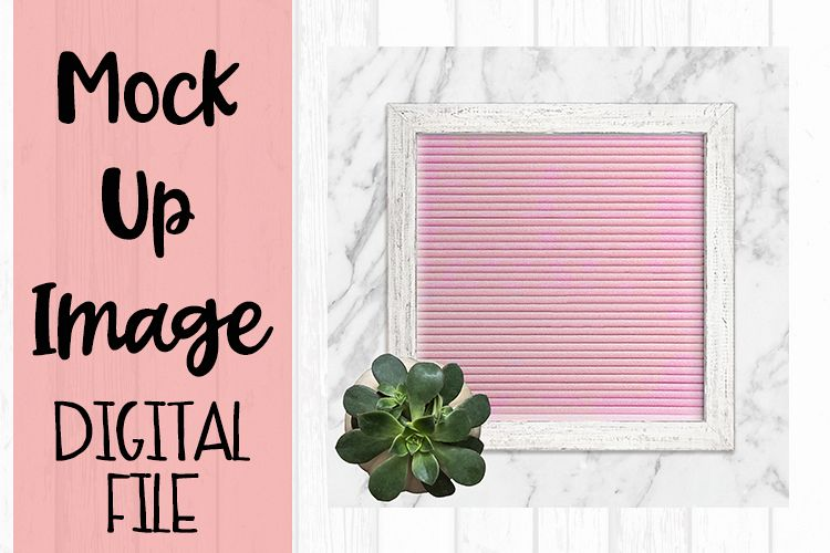 Chic Pink Letter Board Crafters Mock Up example image 1