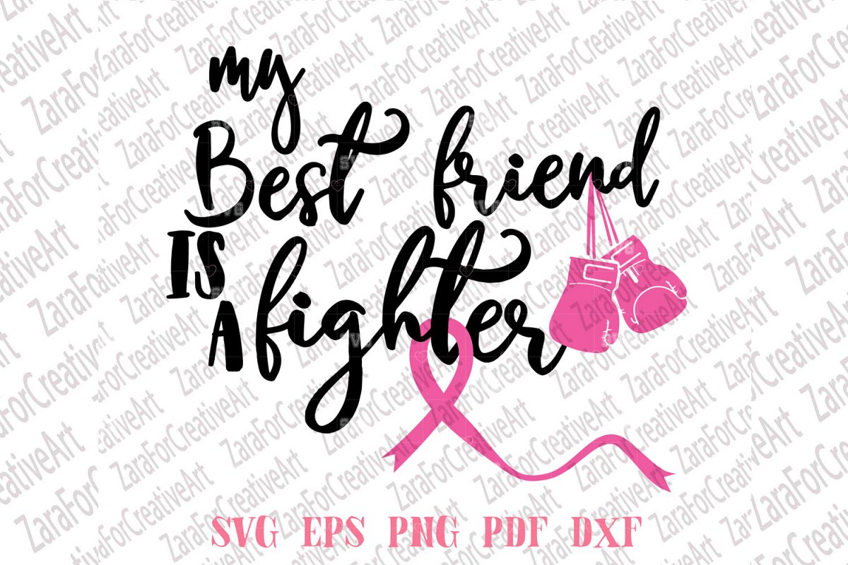 My Best Friend Is A Fighter SVG example image 1