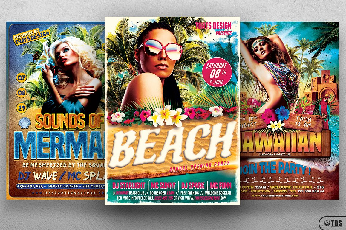 Beach Party Flyer Bundle V2 example image 1