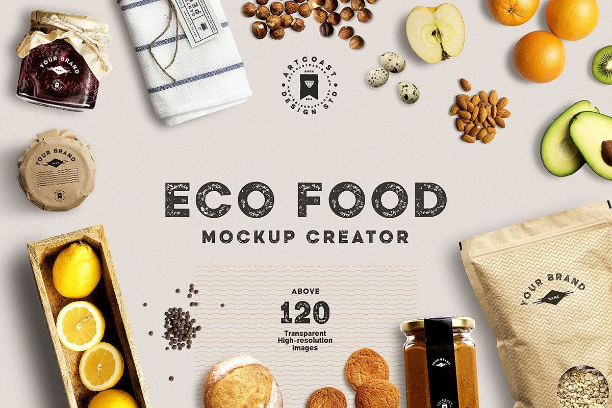 Eco Food Mockup Creator example image 1