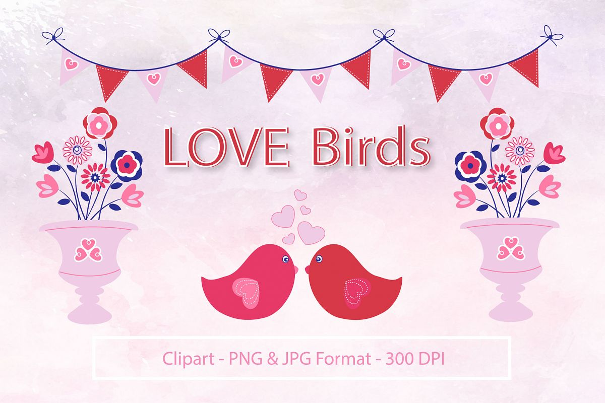 Love Birds Clipart example image 1