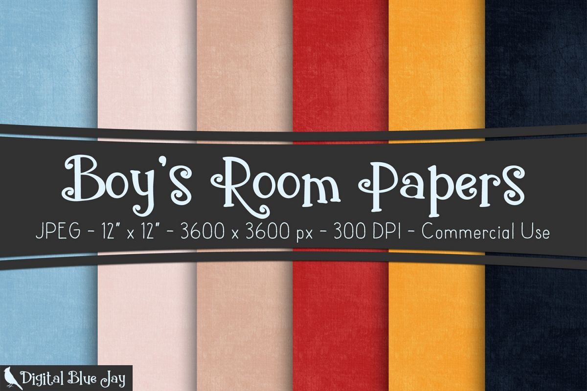 Digital Paper Textured Backgrounds - Boy's Room example image 1