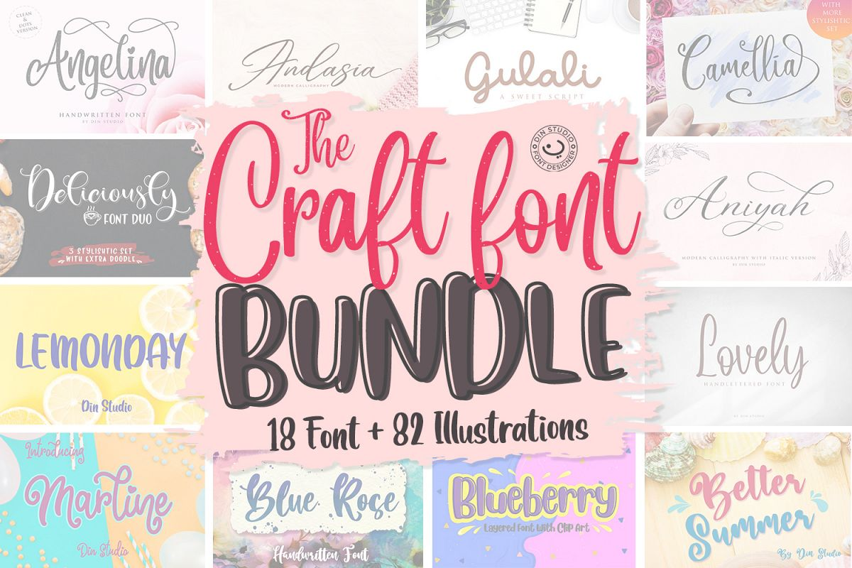 The Craft Font Bundle example image 1