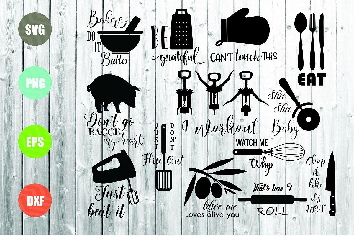 Kitchen SVG Bundle, Kitchen Towel Designs
