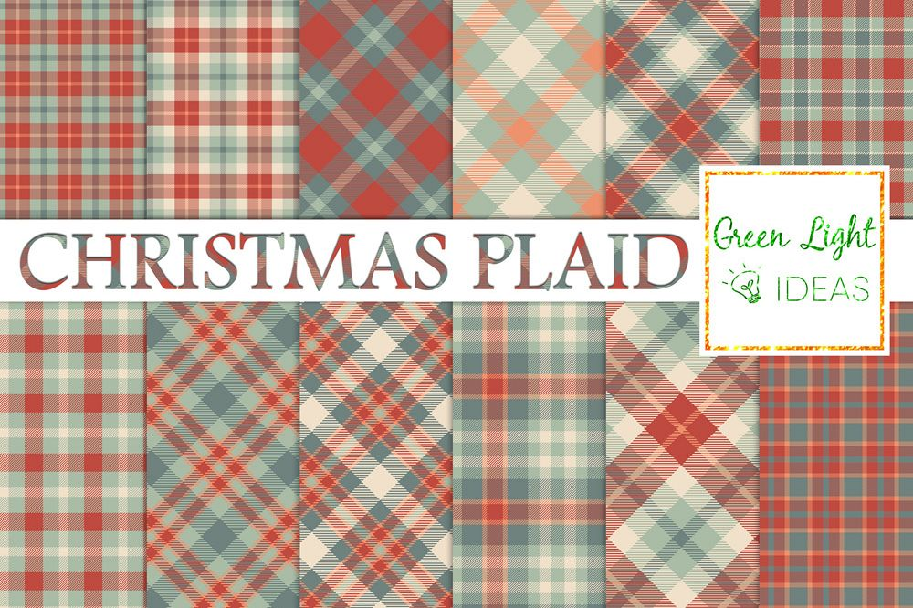 christmas plaid digital papers tartan christmas backgrounds example image 1 - Christmas Plaid