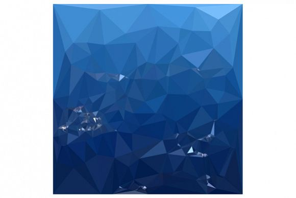 French Sky Blue Abstract Low Polygon Background example image 1