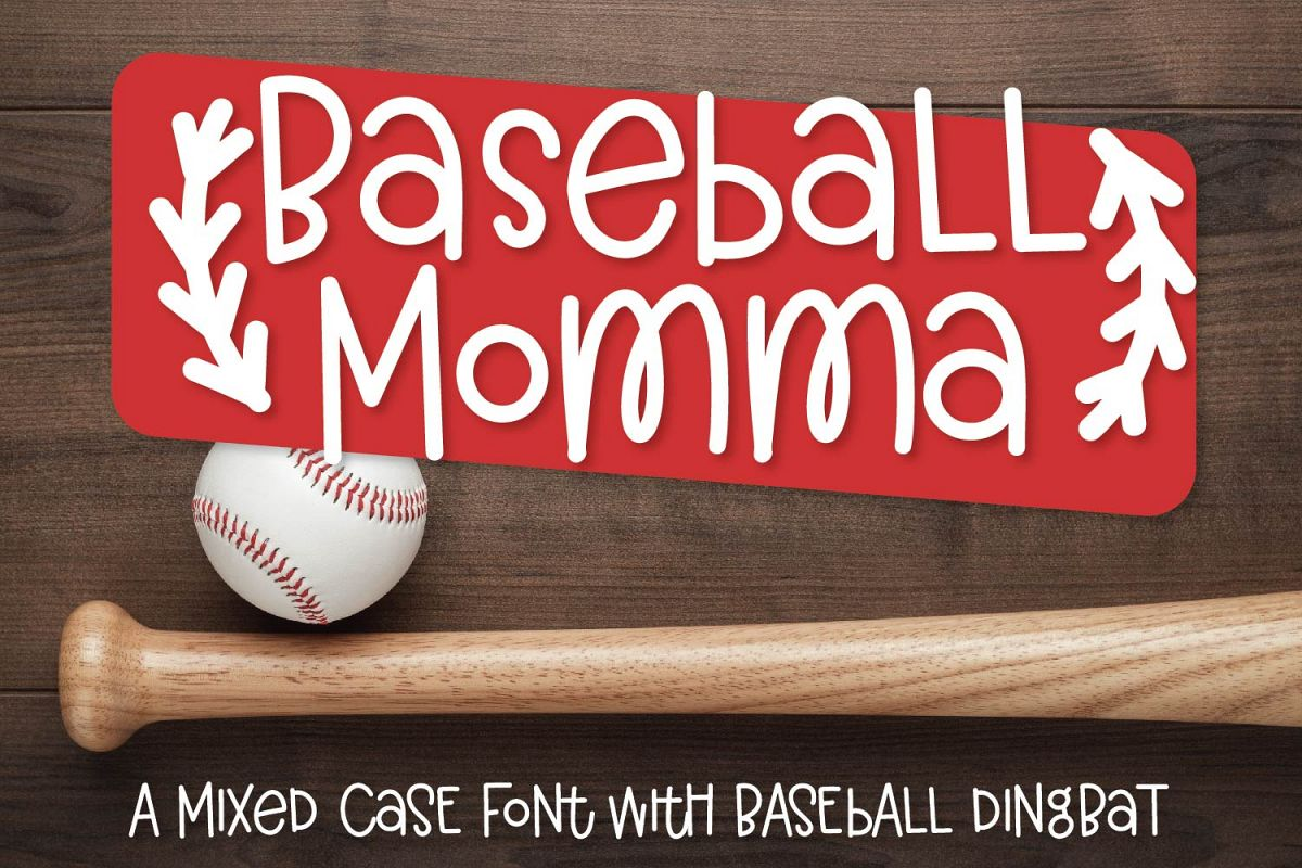 Baseball Momma - A Font Duo example image 1